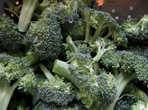 Broccoli, rinsed and ready