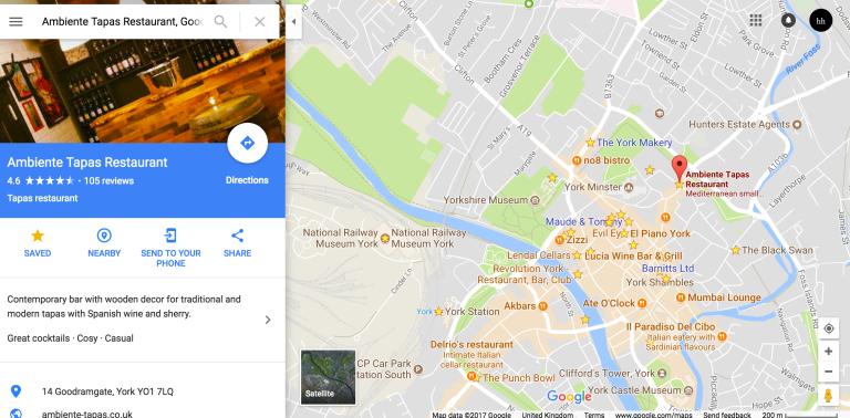 York Google Maps